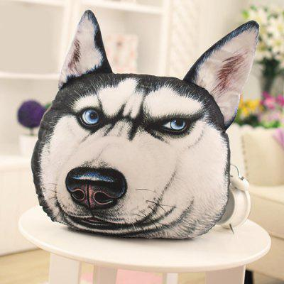 Creative 3D Blue Eyes Huskie Home Decoration Dog Shape Design Pillow