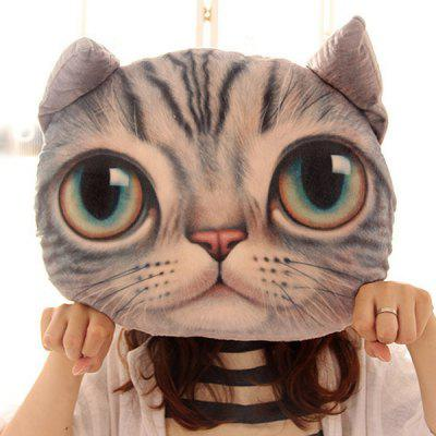 Buy LIGHT GRAY Cartoon 3D Cat Shape Design Home Decoration Detachable Washable Pillow for $16.02 in GearBest store