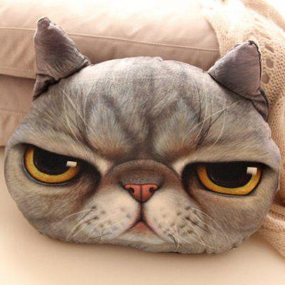 Cartoon Back Cushion 3D Cat Shape Design Detachable Pillow