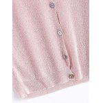 Simple V Neck Pure Color Button Short Cardigan photo