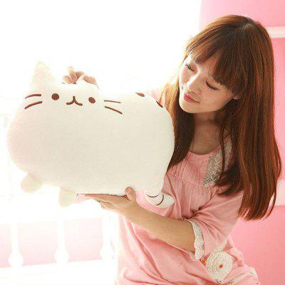 Stylish Short Floss Cushion Cat Shape Design Pillow
