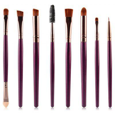 Buy PURPLE Stylish 8 Pcs Multifunction Soft Nylon Eye Makeup Brushes Set for $4.50 in GearBest store
