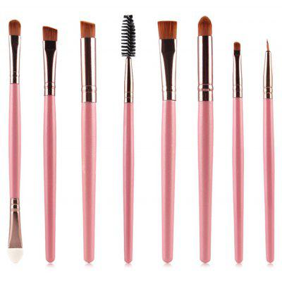 Buy PINK Stylish 8 Pcs Multifunction Soft Nylon Eye Makeup Brushes Set for $5.81 in GearBest store