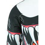 Fashion Round Collar Mouth Printed Sweatshirt For Men - COLORMIX