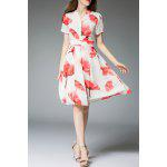 Floral Print Knee Length Dress for sale