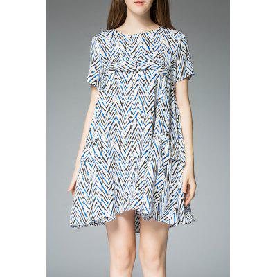 Zigzag Printed Tee Dress