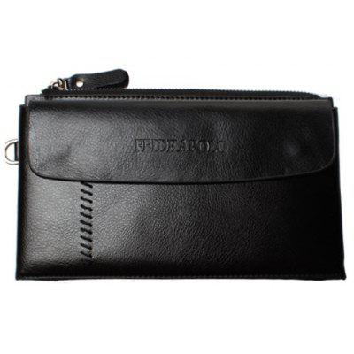 Trendy Letter and Zip Design Clutch Bag For Men