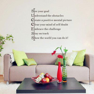 Personality Home Decoration Encouraging Proverbs Design Wall Art Sticker
