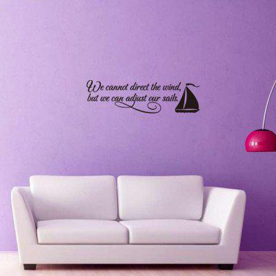 0%OFF Encouraging Proverbs Sailing Ship Quote Wall Stickers For Bedrooms Part 95
