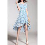 Lace High Low Short Sleeve Dress deal