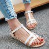 Buy Casual T-Strap Buckle Design Sandals Women 37 WHITE