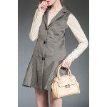 Lapel Gray Single Breasted Winter Dress deal