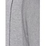 Casual Collarless Batwing Sleeve High Low Cardigan For Women - GRAY