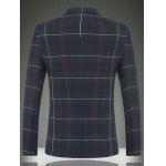 cheap Tartan Lapel Long Sleeve One Button Design Blazer For Men