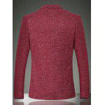 Solid Color Lapel Long Sleeve One Button Design Blazer For Men - WINE RED