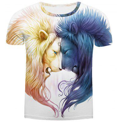 3D Lion Crazy T Shirts