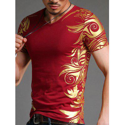Tattoo Red T Shirts Men