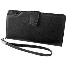 Sweet Solid Color and Magnetic Closure Design Clutch Wallet For Women