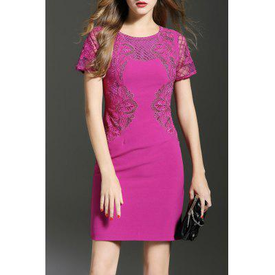 Mini Embroidered Bodycon Dress