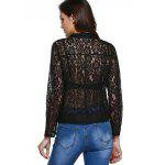 best Sweet Long Sleeve Lapel Zipper Fly Lace Jacket