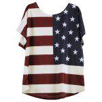 Distressed American Flag Short Sleeve T-Shirt - OFF-WHITE