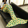 Trendy Lucky Clover Pattern Mermaid Tail Style Casual Soft Blanket - LIGHT YELLOW