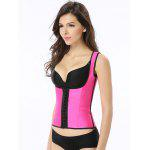 Brief Underbust Straps Latex Corset - ROSE MADDER