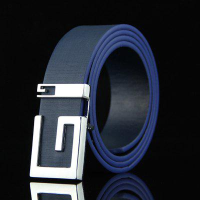 Stylish Letter G Shape Buckle Casual PU Belt For Men