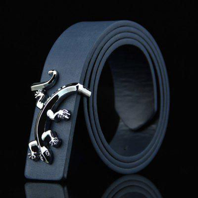 Stylish Reptile Gecko Shape Embellished Casual PU Belt For Men