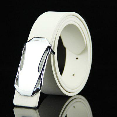 Classical Sports Car Shape Embellished Casual PU Belt For Men