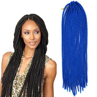 Fashion Solid Color Heat Resistant Synthetic Dreadlock Hair Extension For Women