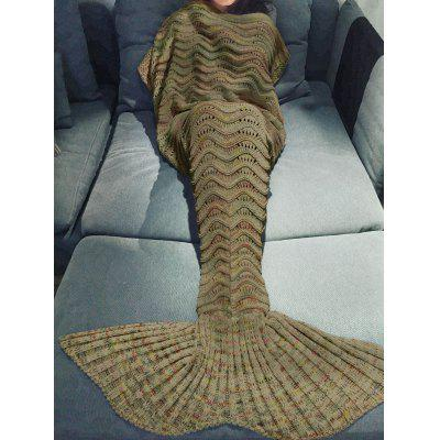 Buy EARTHY Comfortable Multicolor Knitted Throw Mermaid Tail Design Blanket For Adult for $19.58 in GearBest store
