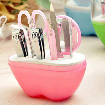 Stylish 9 Pcs/Suit Apple Shape Box Nail Clippers Nail Art Tools