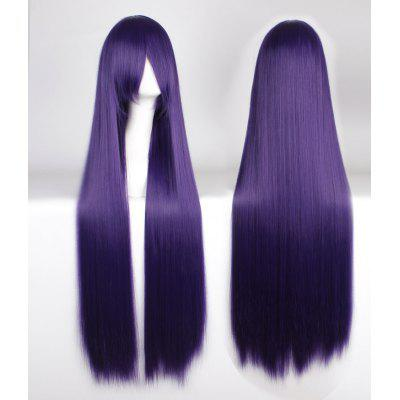 Buy PURPLE Attractive 100CM Extra Long Side Bang Silky Straight Purple Anime Cosplay Wig for $21.20 in GearBest store