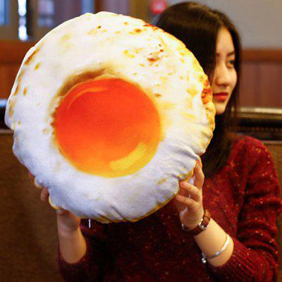 3D Simulation Removable Fried Egg Shape Velboa Doll Pillow