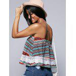 Ethnic Style Strapless Lace Splicing Crop Top deal