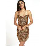 Shiny Party Queen Sequins Embellished Mini Dress - GOLDEN