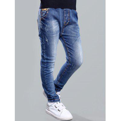 Brief Style Drawstring Pocket Design Boy's Jeans