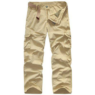 Loose-Fitting Snap Button Pocket Cargo Pants For Men