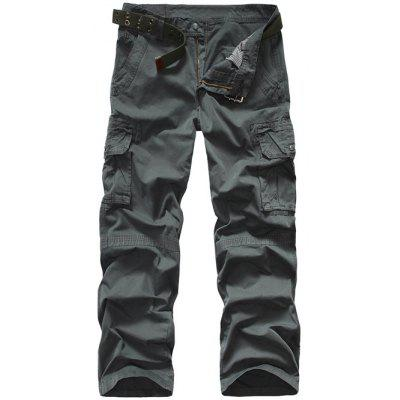 Snap Button Pocket Cargo Pants