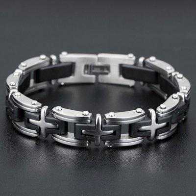 Punk Style Plastic Cross Geometric Health Bracelet For MenMens Jewelry<br>Punk Style Plastic Cross Geometric Health Bracelet For Men<br><br>Chain Type: Others<br>Gender: For Men<br>Item Type: Chain &amp; Link Bracelet<br>Material: Plastic<br>Metal Type: Alloy<br>Package Contents: 1 x Bracelet<br>Shape/Pattern: Geometric<br>Style: Trendy<br>Weight: 0.068kg