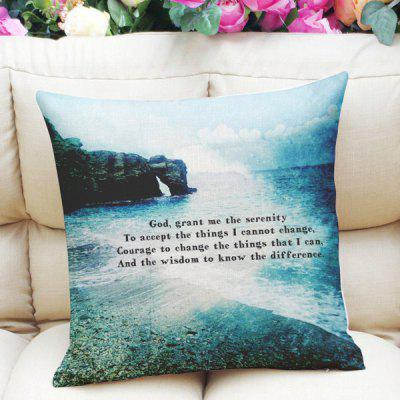 Fresh Style Home Decor Ocean Rock Letter Square Pattern Pillow Case