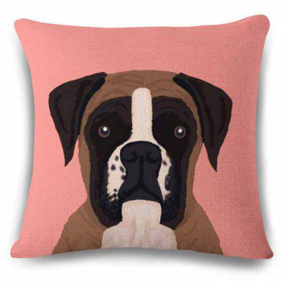 High Quality Home Decor Pink Underpainting Puppy Pattern Pillow Case
