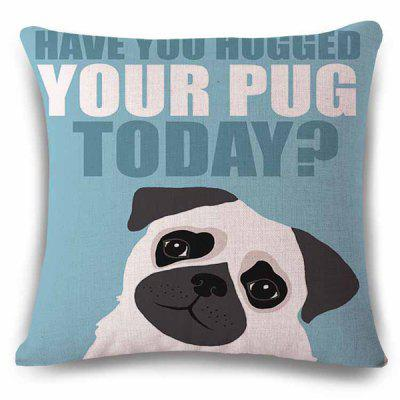 Hot Sale English Proverb Thinking Dog Design Back Cushion Pillow Case