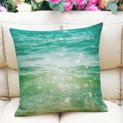 Fresh Style Home Decor Shiny Ocean Square Pattern Pillow Case