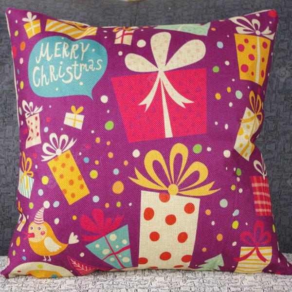 Cute Home Decor Festival Colorful Gift Combination Pattern Pillow Case