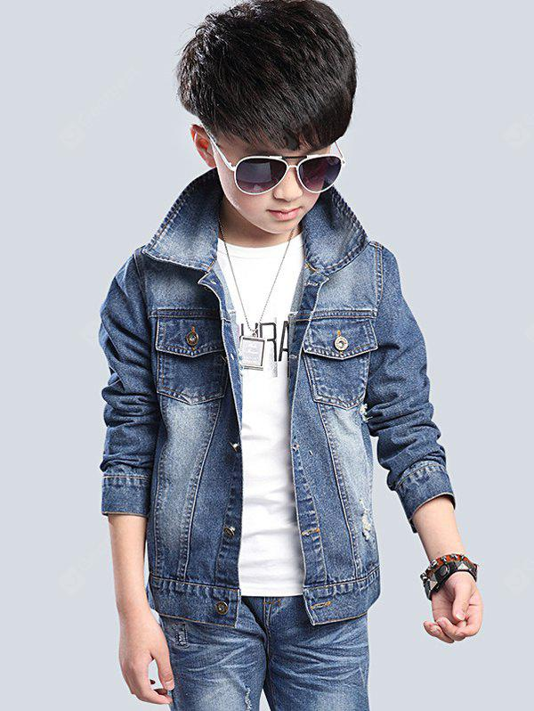 Chic Pocket Design Boy's Denim Jacket