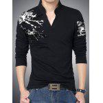 Buy BLACK, Apparel, Men's Clothing, Men's T-shirts, Men's Long Sleeves Tees for $16.33 in GearBest store