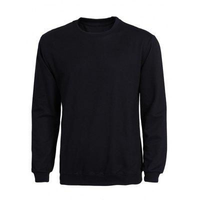 Rib Splicing Solid Color Long Sleeve Sweatshirt For Men