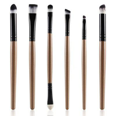 Buy CHAMPAGNE GOLD Stylish 6 Pcs Soft Nylon Eye Makeup Brushes Set for $4.89 in GearBest store